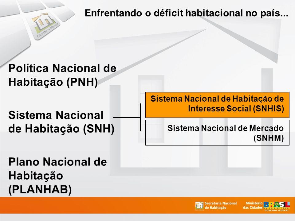 Enfrentando o déficit habitacional no país...