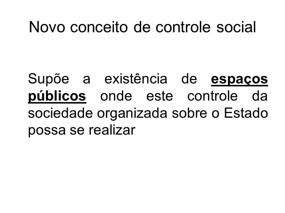 Novo conceito de controle social