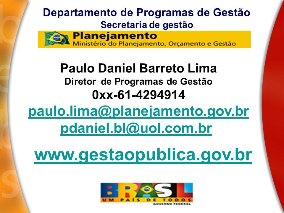 www.gestaopublica.gov.br paulo.lima@planejamento.gov.br