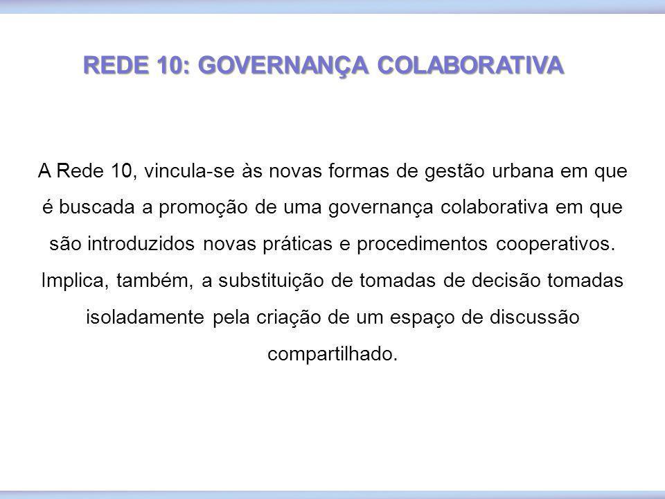 REDE 10: GOVERNANÇA COLABORATIVA