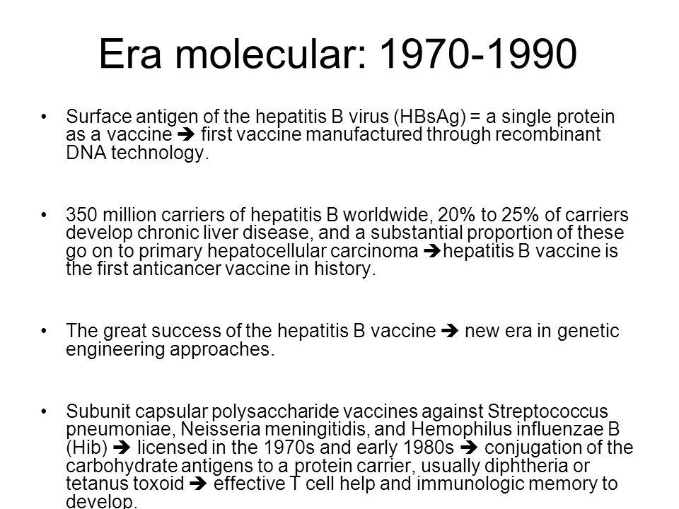Era molecular: 1970-1990