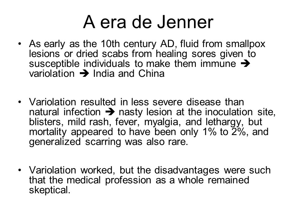 A era de Jenner