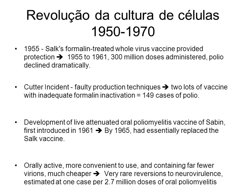 Revolução da cultura de células 1950-1970