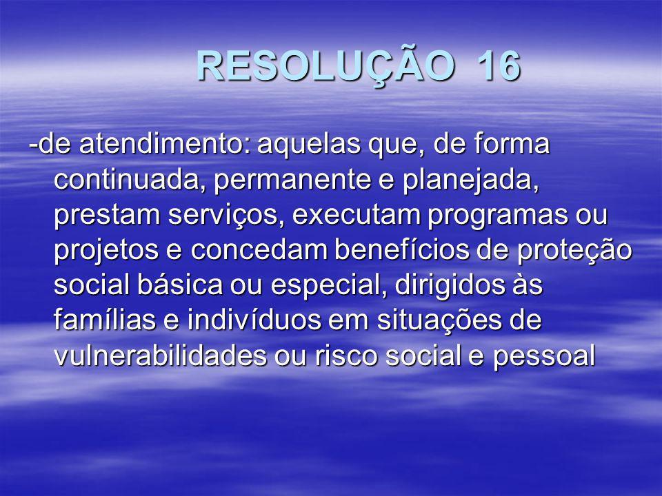 RESOLUÇÃO 16