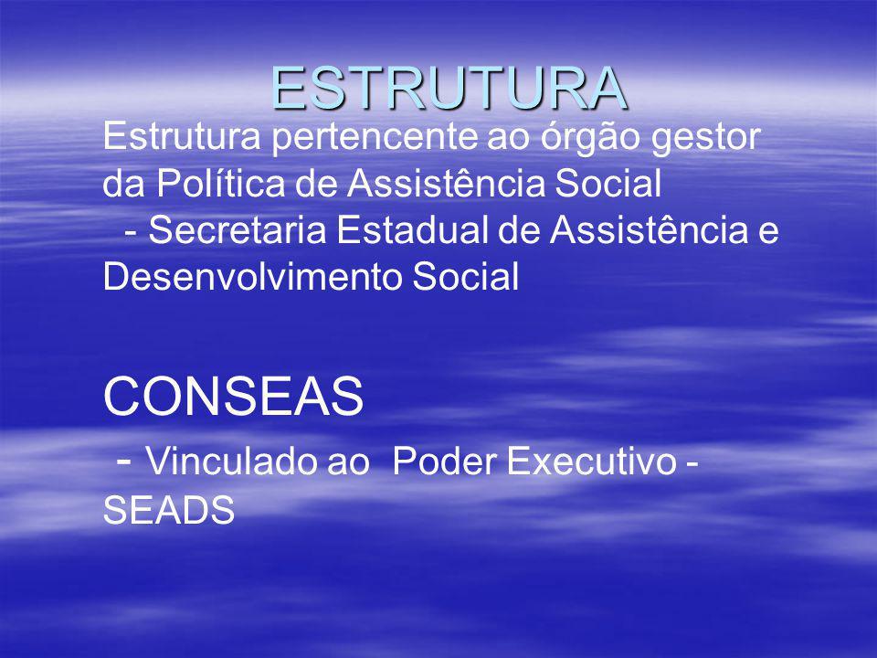 ESTRUTURA CONSEAS - Vinculado ao Poder Executivo - SEADS