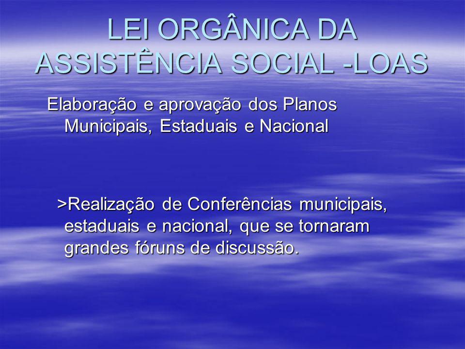 LEI ORGÂNICA DA ASSISTÊNCIA SOCIAL -LOAS