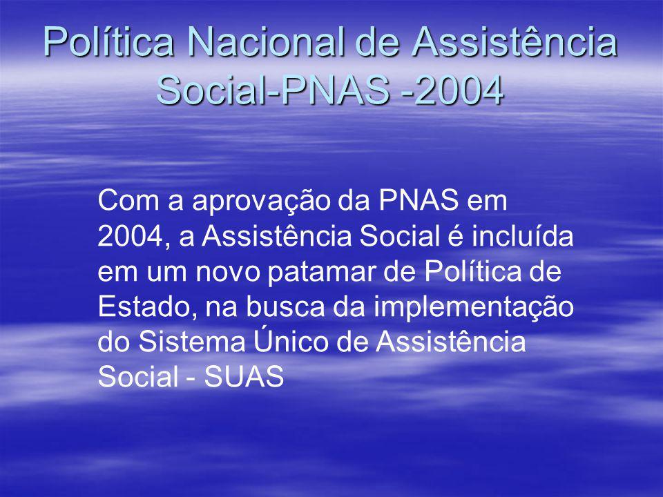 Política Nacional de Assistência Social-PNAS -2004