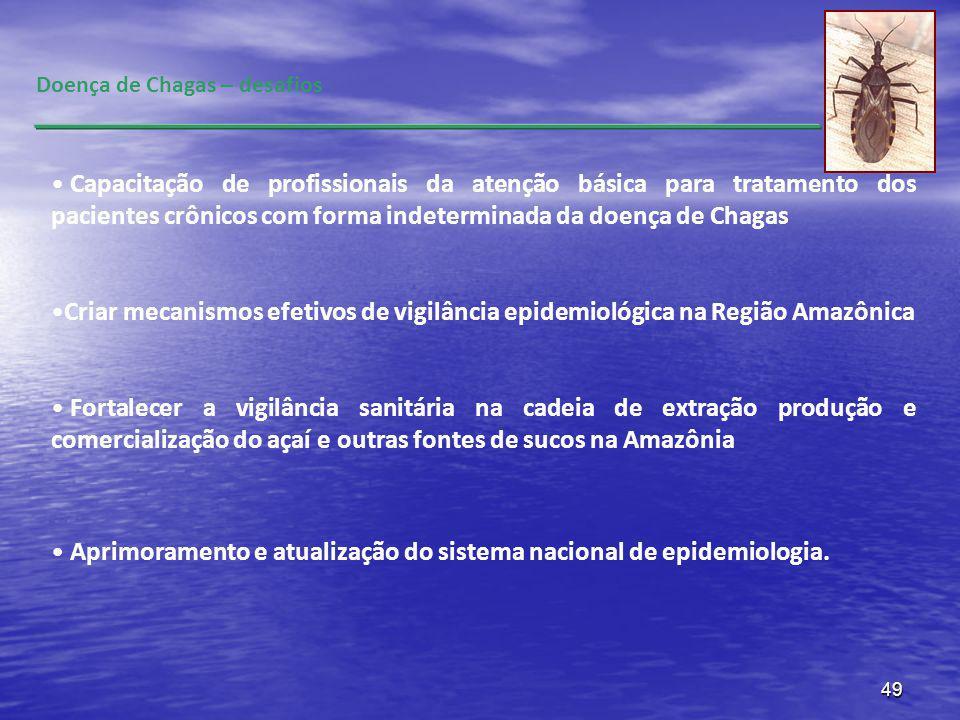Aprimoramento e atualização do sistema nacional de epidemiologia.