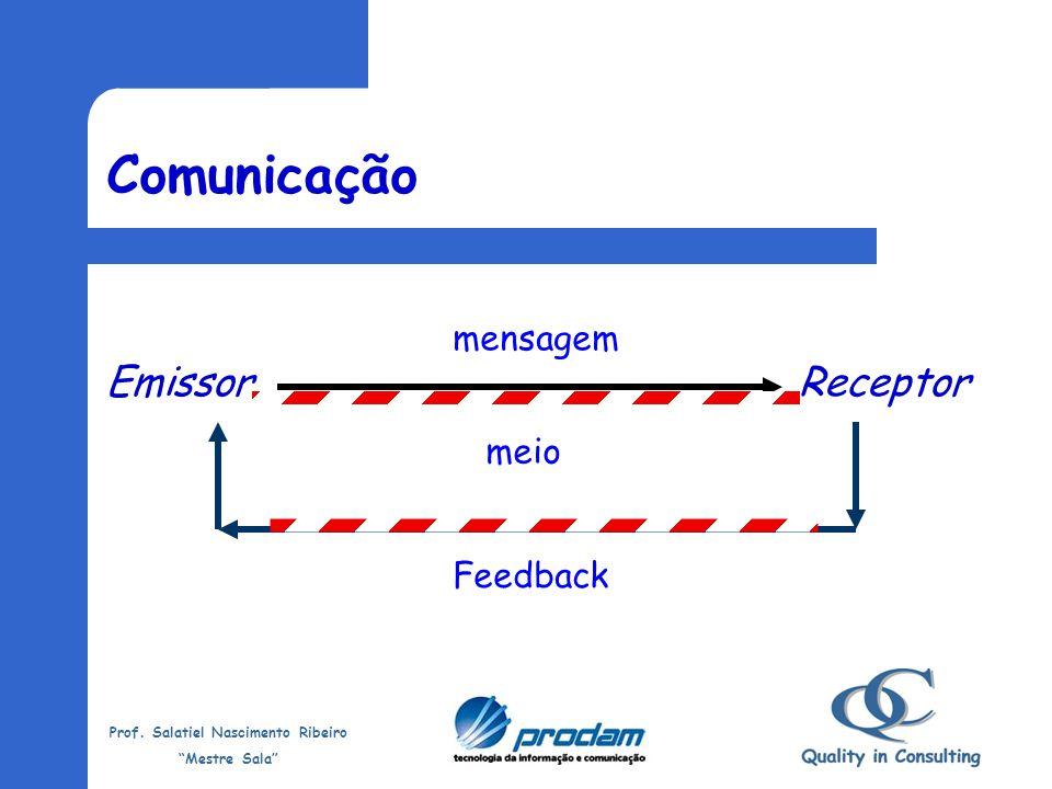 Comunicação Feedback mensagem meio Emissor Receptor