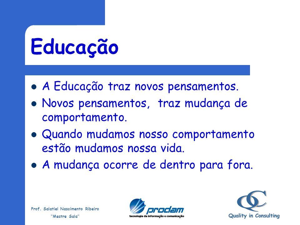 Educação A Educação traz novos pensamentos.