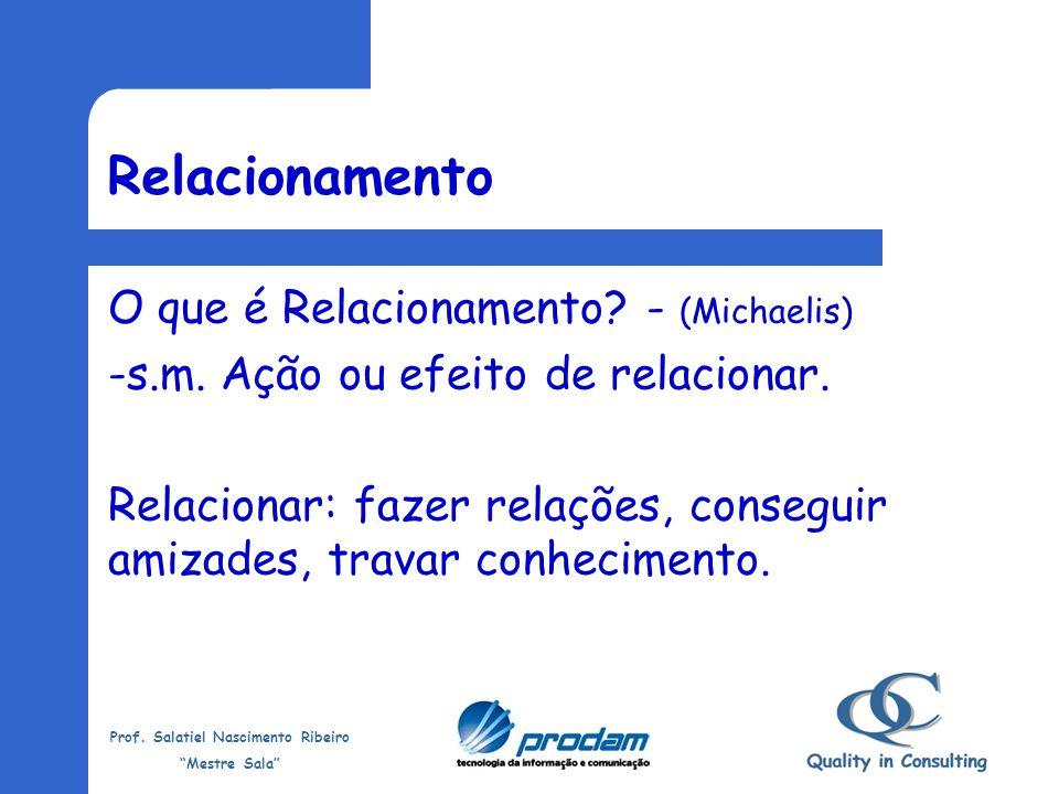 Relacionamento O que é Relacionamento - (Michaelis)