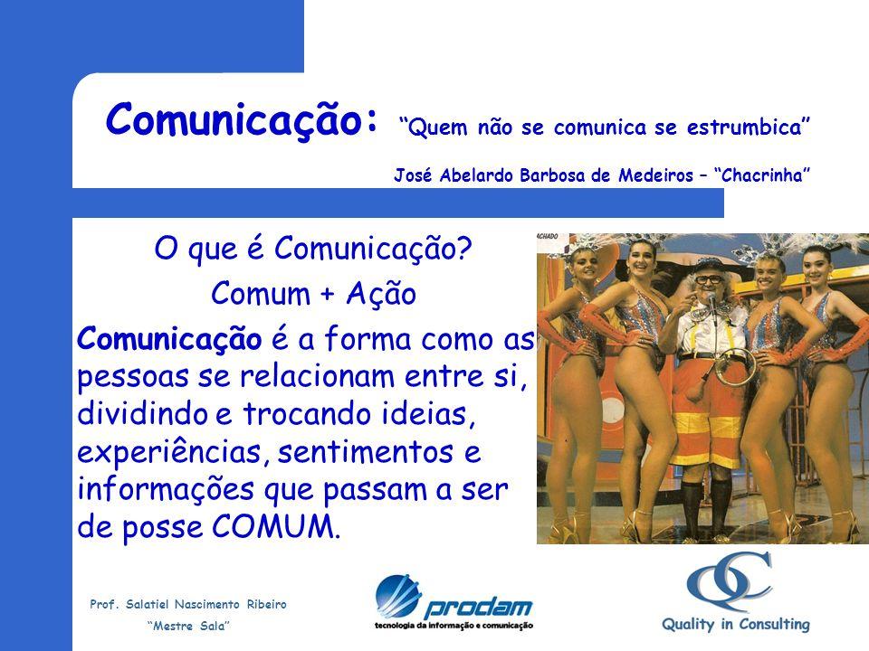 Comunicação: Quem não se comunica se estrumbica José Abelardo Barbosa de Medeiros – Chacrinha