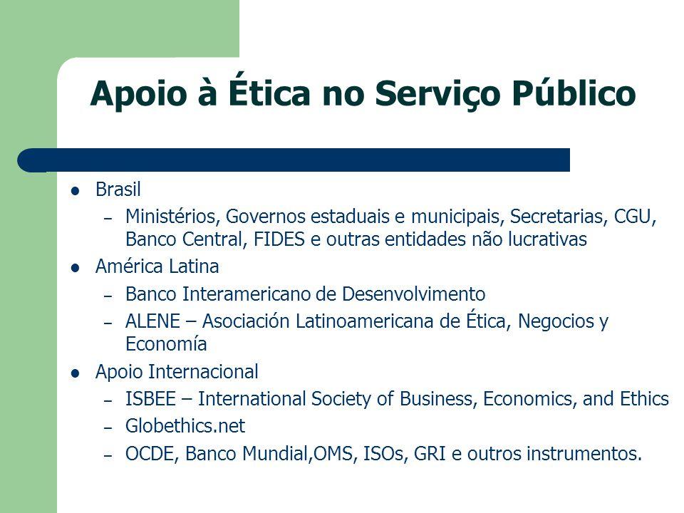 Apoio à Ética no Serviço Público