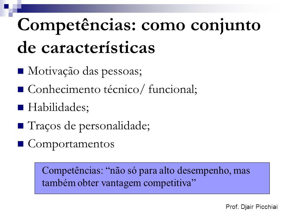 Competências: como conjunto de características