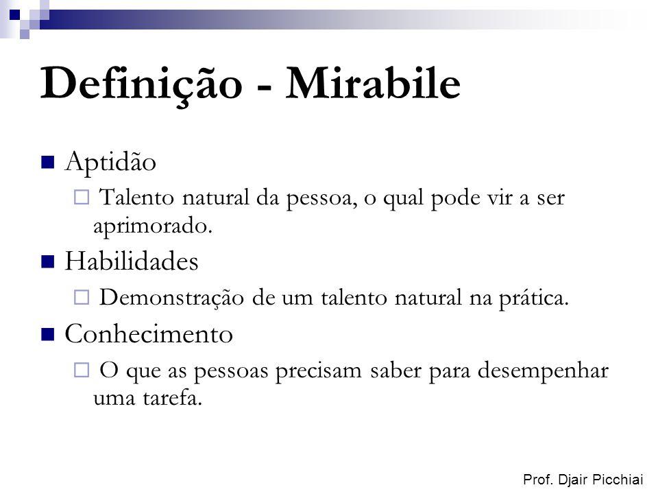 Definição - Mirabile Aptidão Habilidades Conhecimento
