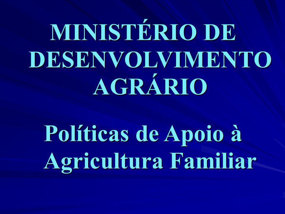 MINISTÉRIO DE DESENVOLVIMENTO AGRÁRIO
