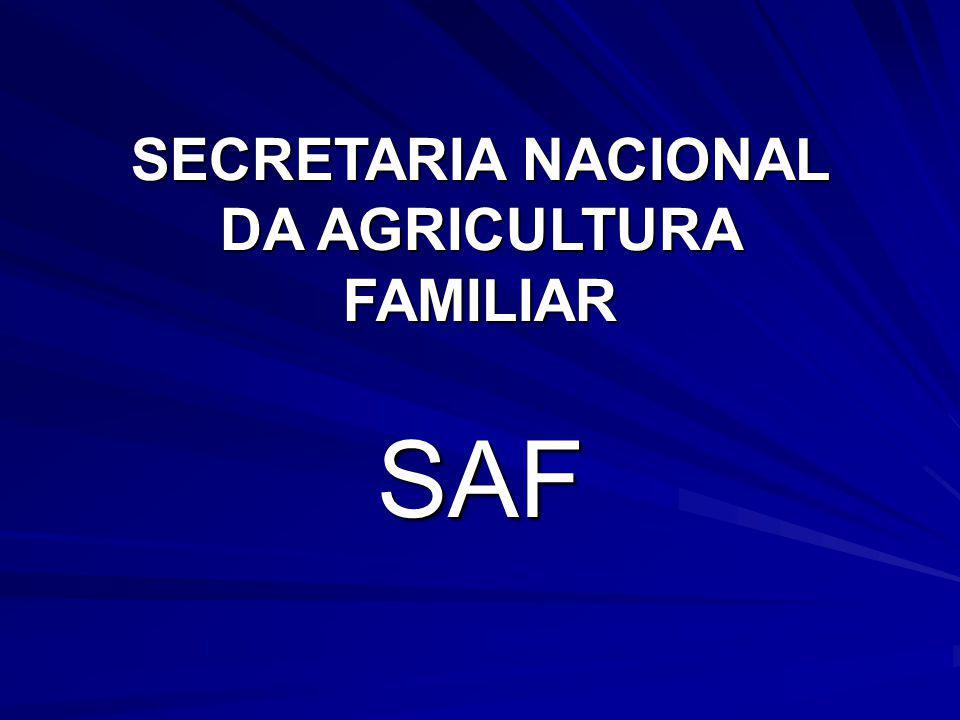 SECRETARIA NACIONAL DA AGRICULTURA FAMILIAR