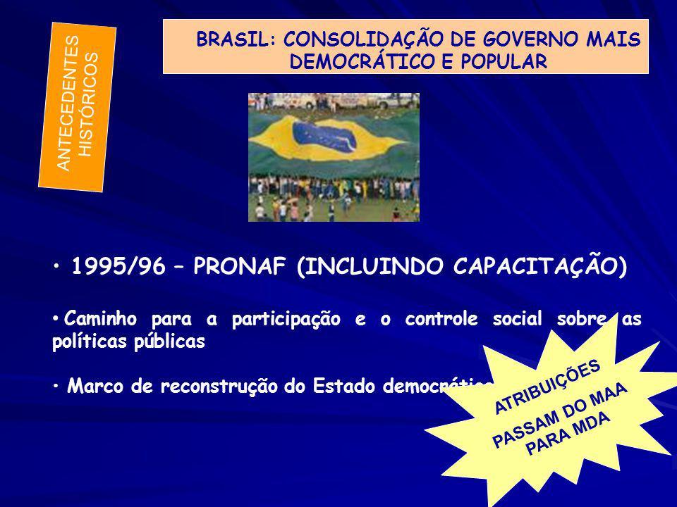 BRASIL: CONSOLIDAÇÃO DE GOVERNO MAIS DEMOCRÁTICO E POPULAR