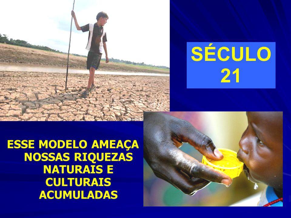 ESSE MODELO AMEAÇA NOSSAS RIQUEZAS NATURAIS E CULTURAIS ACUMULADAS