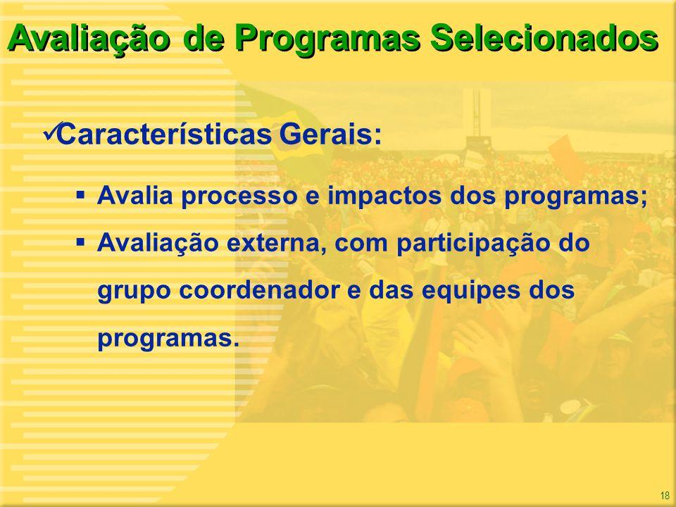 Avaliação de Programas Selecionados