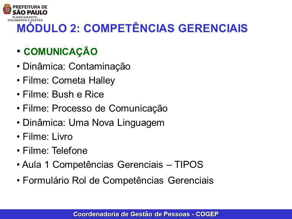 MÓDULO 2: COMPETÊNCIAS GERENCIAIS COMUNICAÇÃO