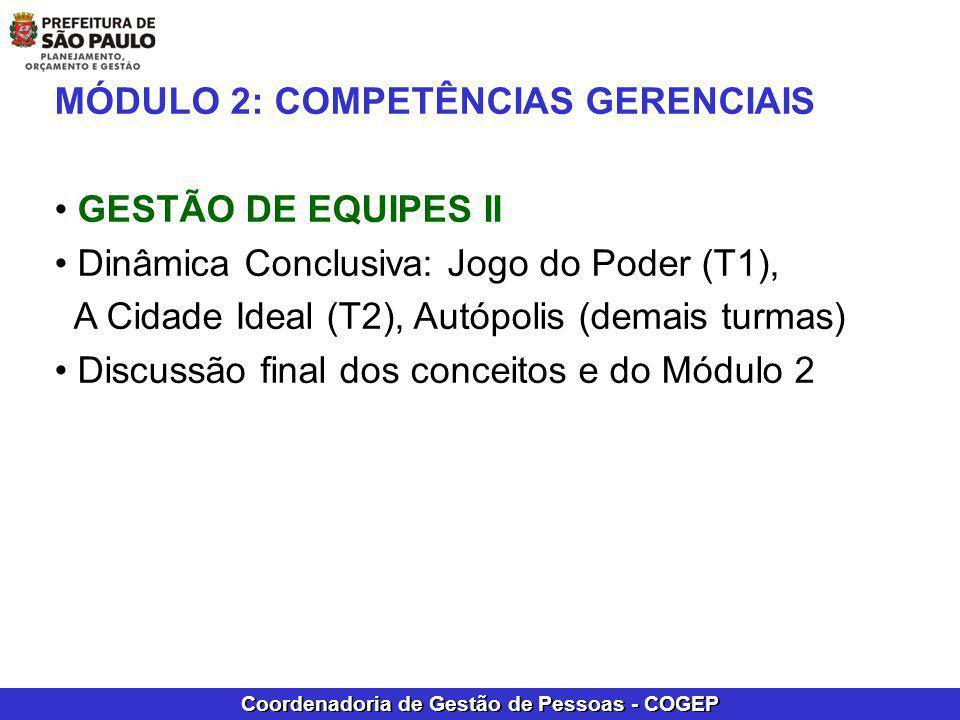 MÓDULO 2: COMPETÊNCIAS GERENCIAIS