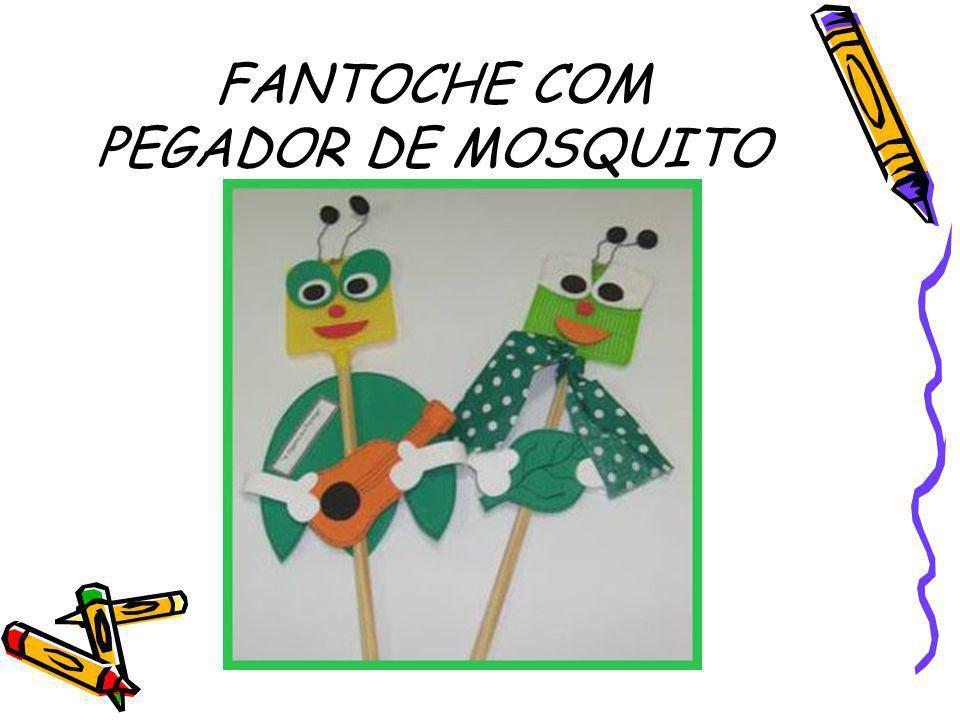 FANTOCHE COM PEGADOR DE MOSQUITO