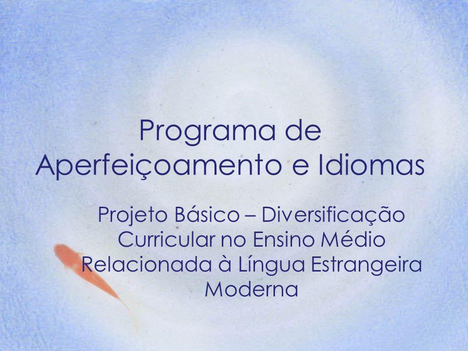 Programa de Aperfeiçoamento e Idiomas