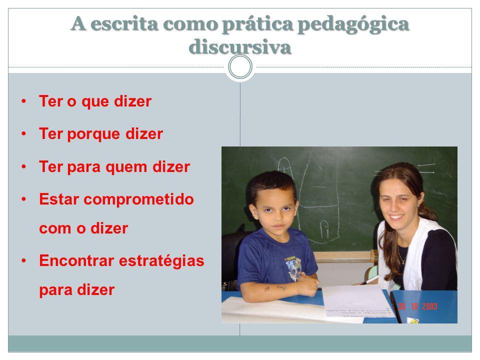 A escrita como prática pedagógica discursiva