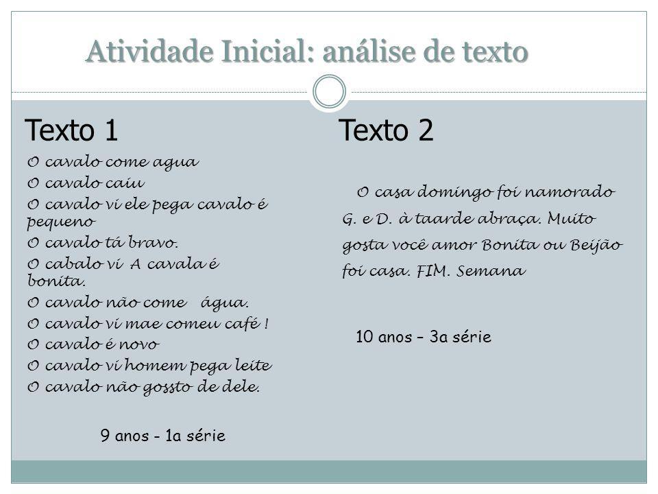 Atividade Inicial: análise de texto
