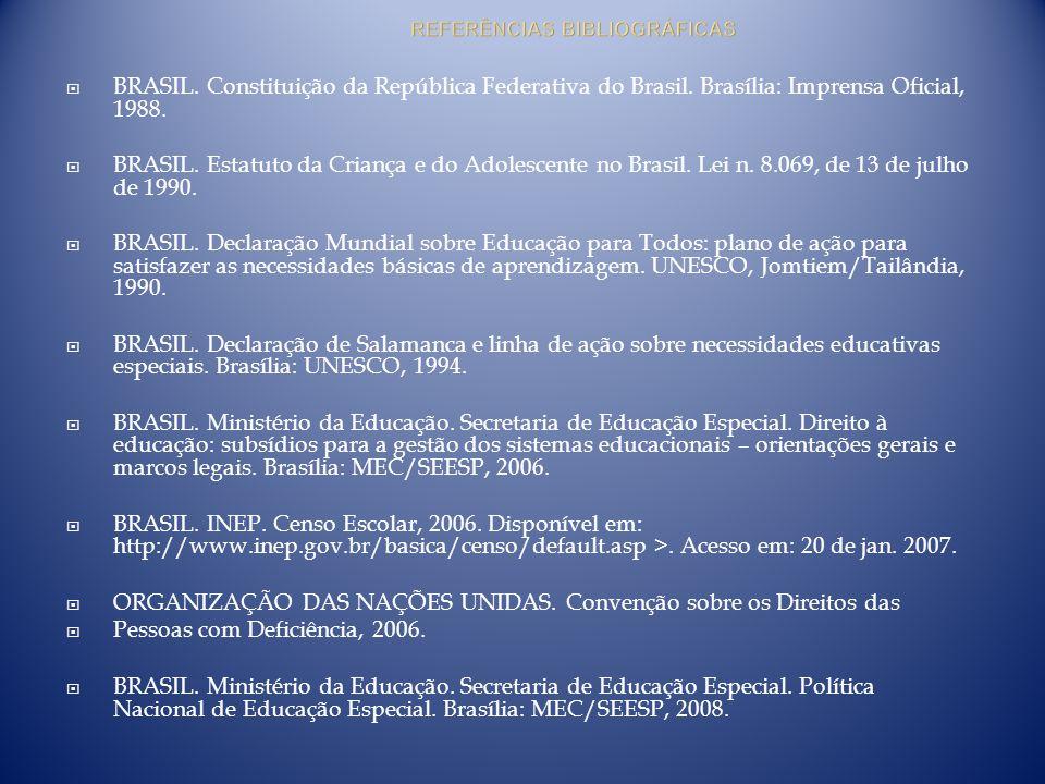 BRASIL. Constituição da República Federativa do Brasil