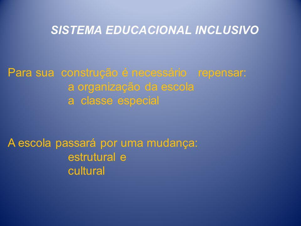 SISTEMA EDUCACIONAL INCLUSIVO