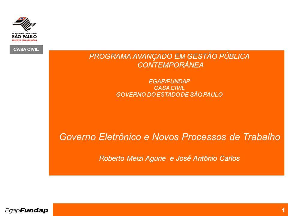 Governo Eletrônico e Novos Processos de Trabalho