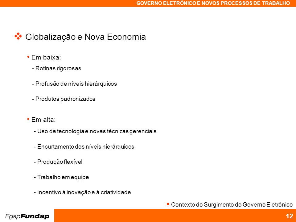 Globalização e Nova Economia