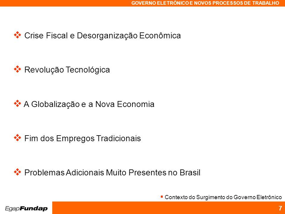 Crise Fiscal e Desorganização Econômica