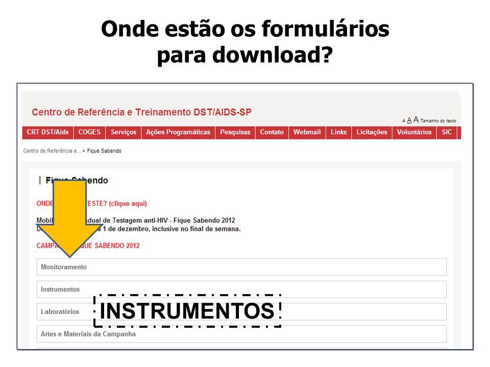 Onde estão os formulários para download
