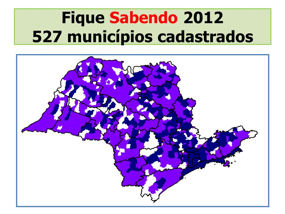 527 municípios cadastrados