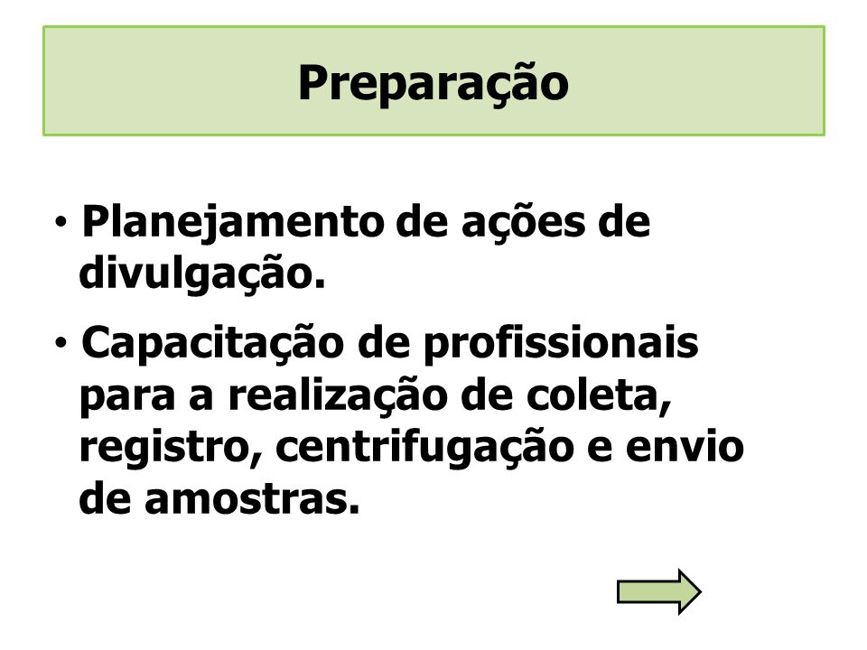 Preparação Planejamento de ações de divulgação.