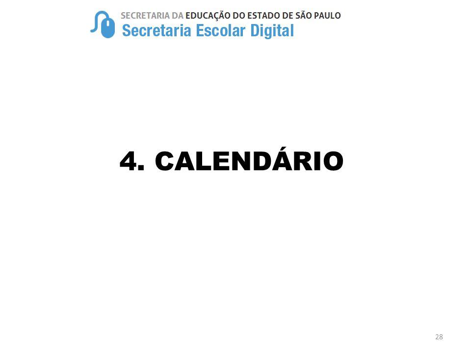 4. CALENDÁRIO