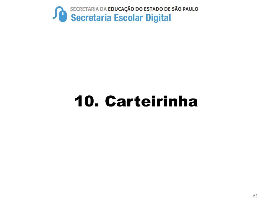 10. Carteirinha