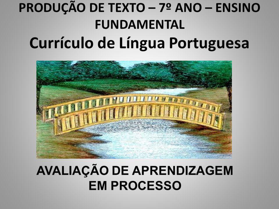 AVALIAÇÃO DE APRENDIZAGEM EM PROCESSO