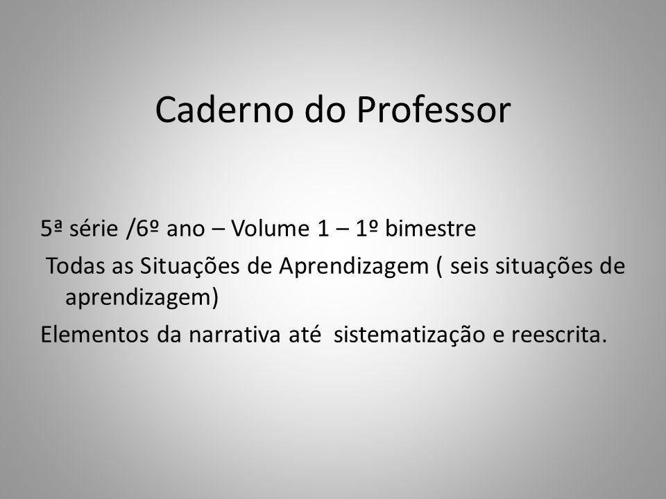 Caderno do Professor
