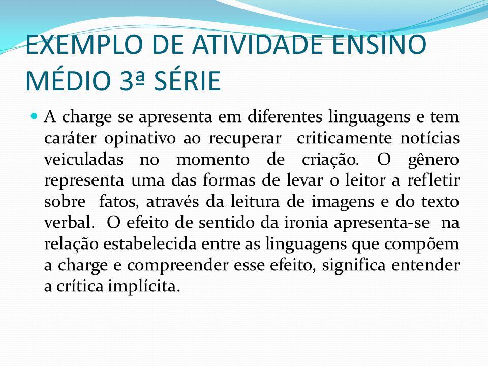 EXEMPLO DE ATIVIDADE ENSINO MÉDIO 3ª SÉRIE