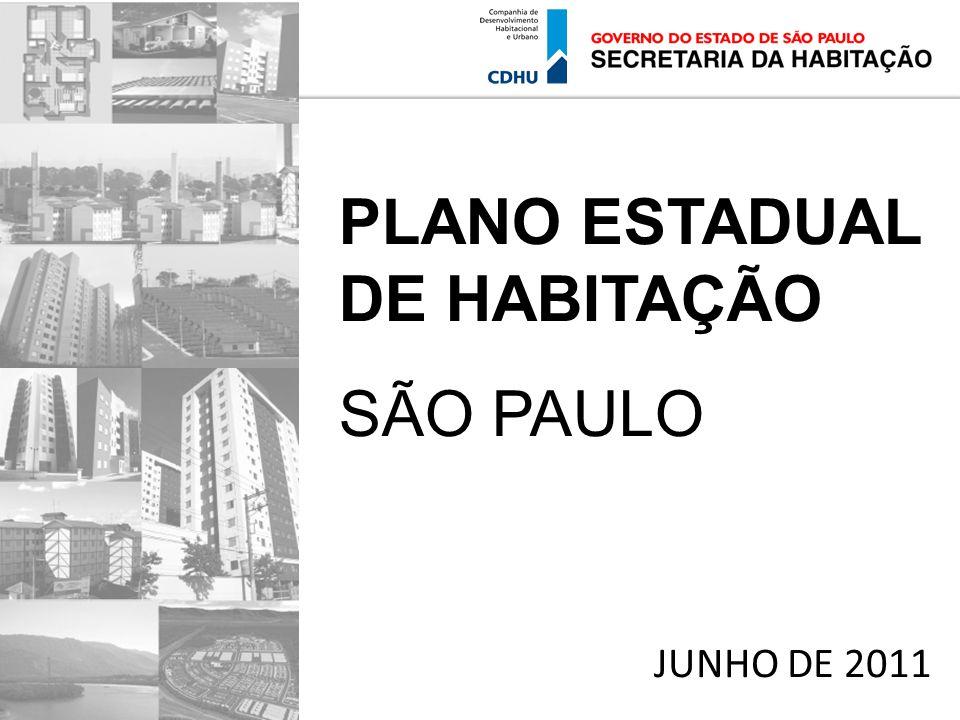 PLANO ESTADUAL DE HABITAÇÃO SÃO PAULO