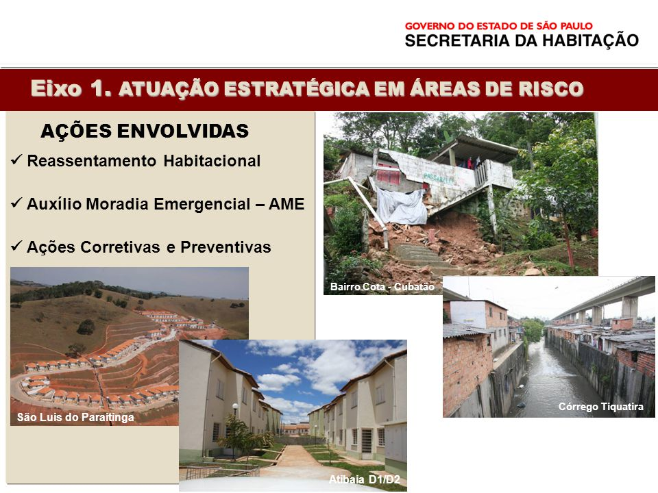 Eixo 1. ATUAÇÃO ESTRATÉGICA EM ÁREAS DE RISCO