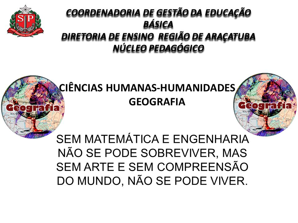 CIÊNCIAS HUMANAS-HUMANIDADES GEOGRAFIA