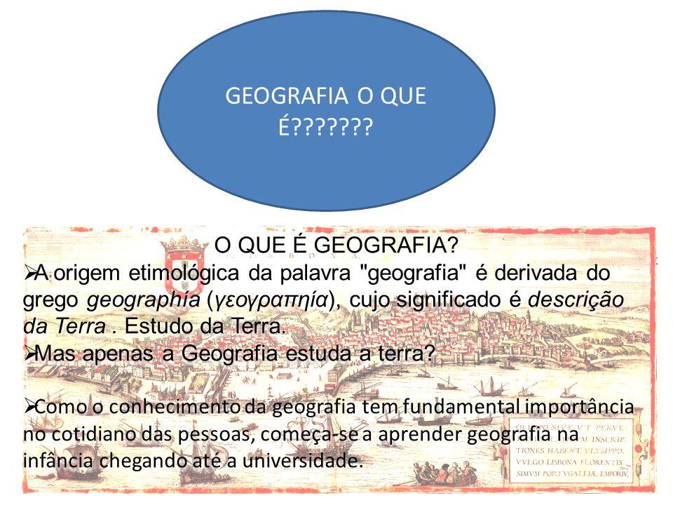 GEOGRAFIA O QUE É O QUE É GEOGRAFIA