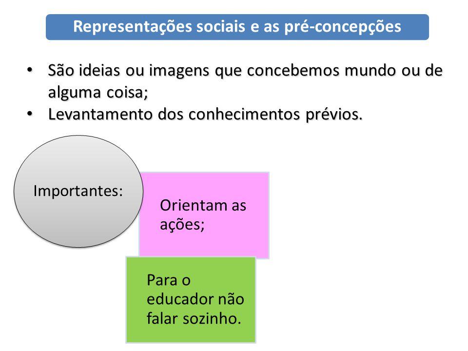 Representações sociais e as pré-concepções