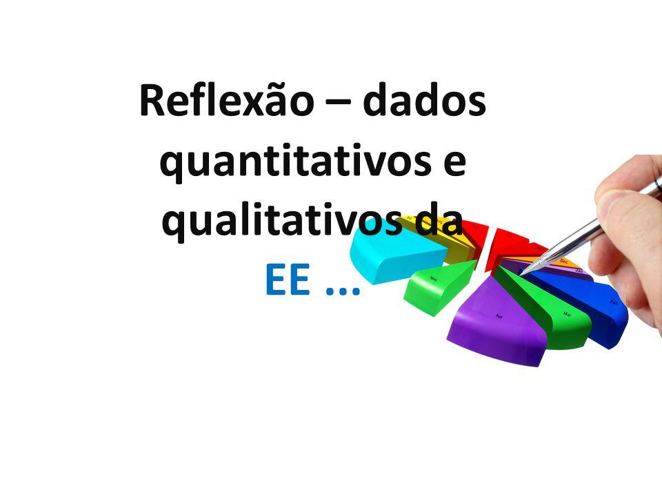 Reflexão – dados quantitativos e qualitativos da