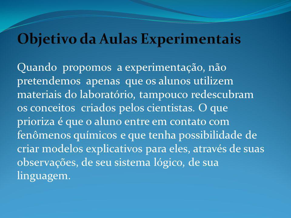 Objetivo da Aulas Experimentais